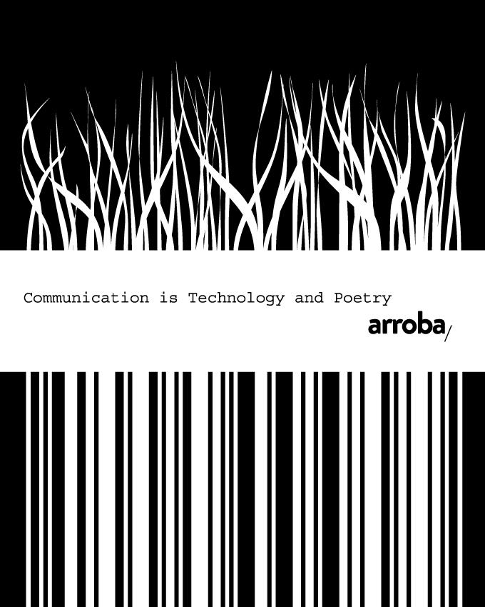 Diseño imagen y cartel para Arroba, agencia digital