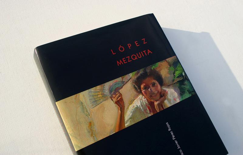 Libro sobre el pintor impresionista Lopez-Mezquita. Página desplegable.